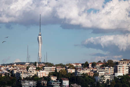Camlica Hill, TV telecommunications tower and observation decks construction work continues.