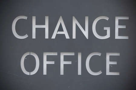 It says change office in white on gray background.