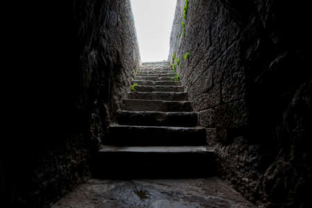 Historical enterance stone stairs