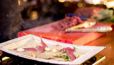 Chef prepared delicious foods Stock Photo