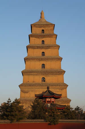 Xian Chinese wild goose pagoda Stock Photo - 17929323