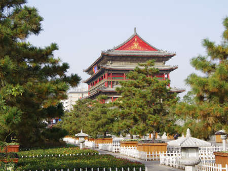 the local characteristics: bell drum towers at Xian, China