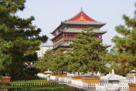 ancient relics: Drum Tower of Xian,China Editorial