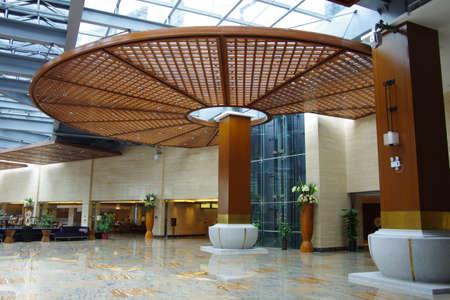 hotel lobby: The hotel lobby decoration