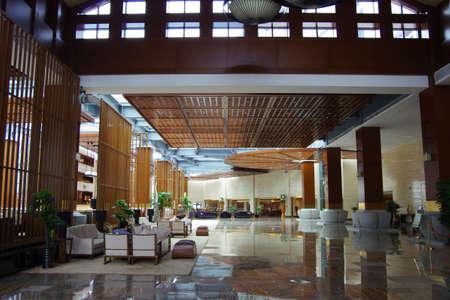 The hotel lobby decoration