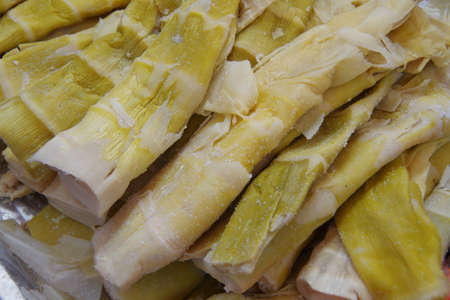 Close up of soft bamboo shoots