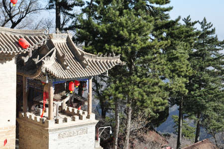 Chinese buildings in Kongdong mountain