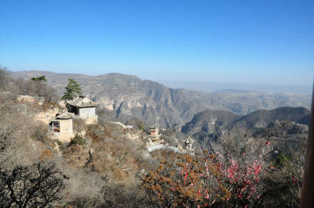 View of Kongtong mountains 版權商用圖片