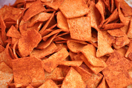 This is a puffed food: potato chips.