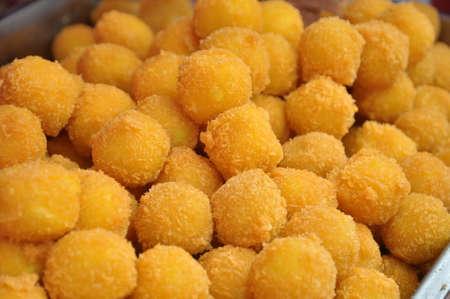 Fried golden shrimp balls, a delicacy.
