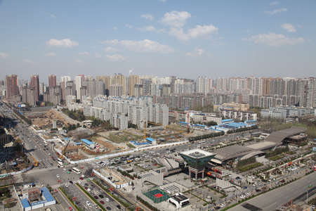 High angle view of a city in China