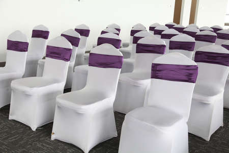 Rows of chairs in a hall