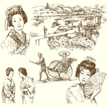 kyoto: Giappone - collezione disegnata a mano