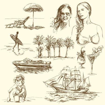 Sommerzeit - Hand gezeichnete Sammlung