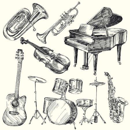 tambor: instrumentos musicais Ilustra��o