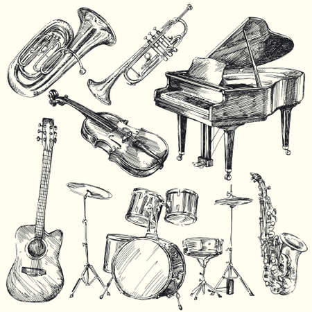 drums: instruments de musique Illustration