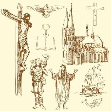 christianity, religion Vector