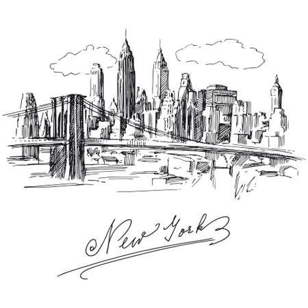 nowy: Nowy Jork Ilustracja