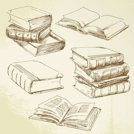 text books: books