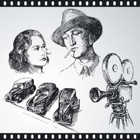 thriller: movie - hand drawn collection
