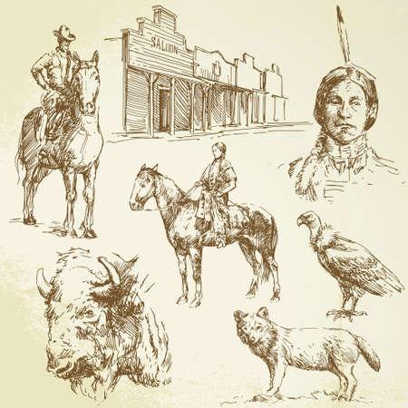 western background: salvaje oeste
