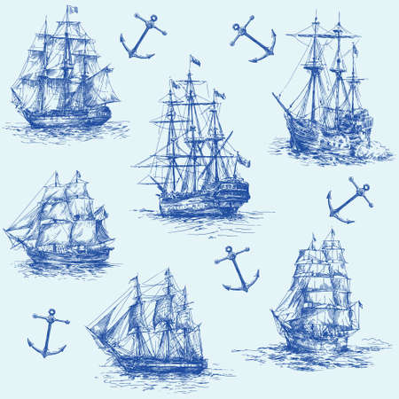 nautical set Stock Vector - 13355881