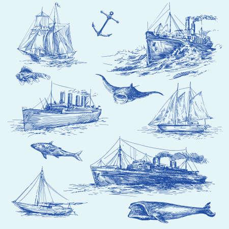 brig: nautical set