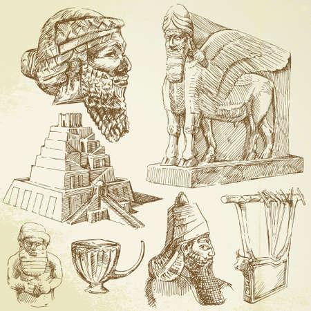 biblical: mesopotamian art Illustration