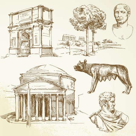 old ruin: roman architecture