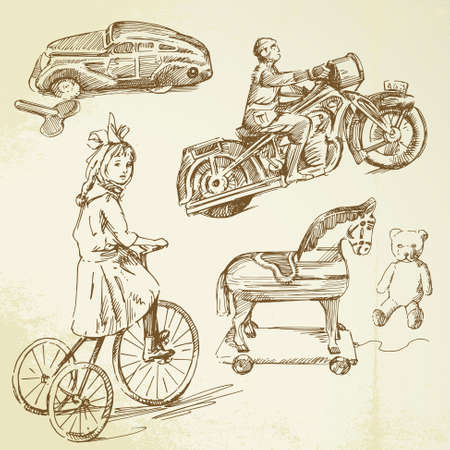 antique tricycle: vintage toys