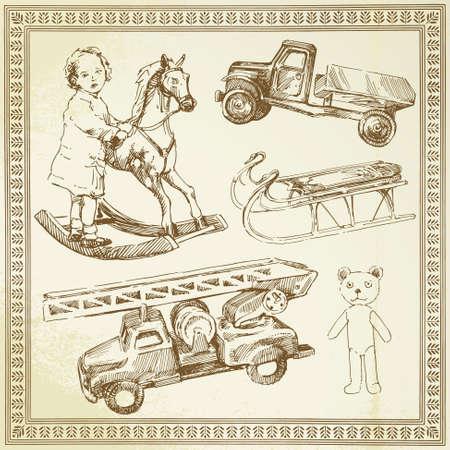horse sleigh: vintage toys