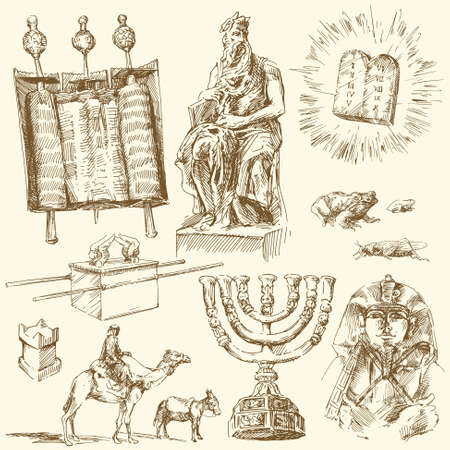 pharaoh: bible - hand drawn collection