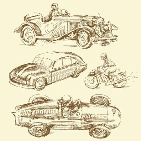 old times: los viejos tiempos - dibujado a mano la colecci�n