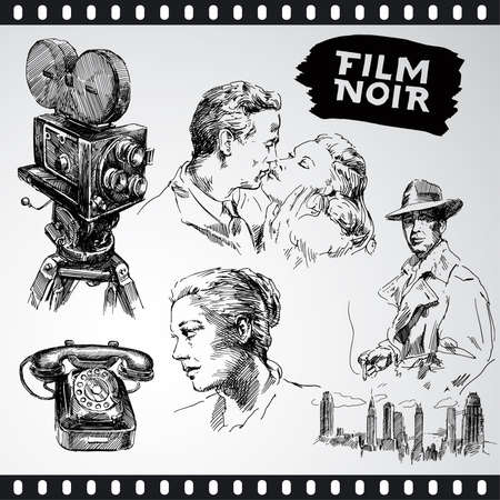 scary story: film noir - vintage collection