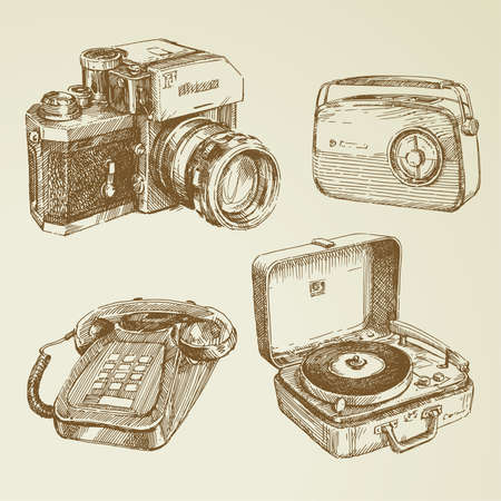 vintage radio: collection of vintage design