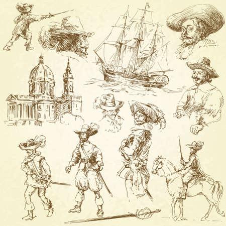 musketeers Stock Vector - 13378089
