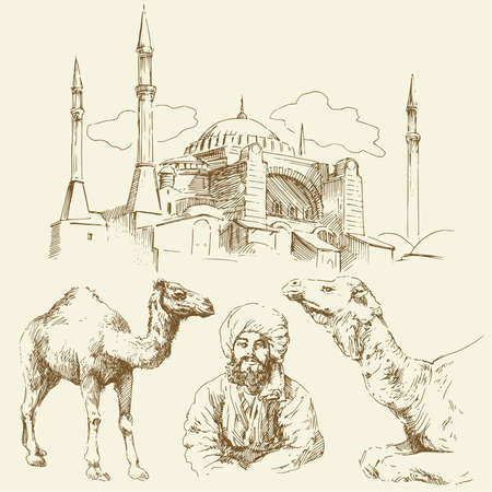 hagia sophia: orient - hand drawn collection