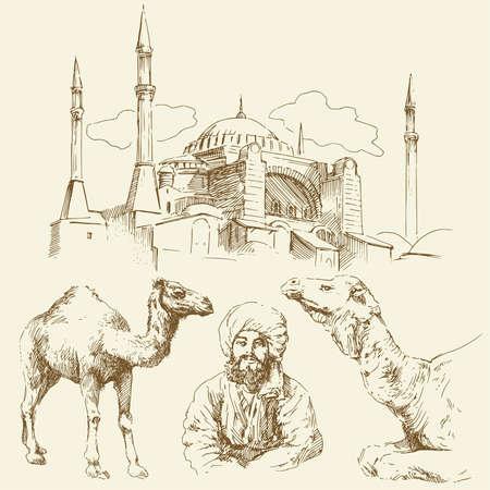 osmanisch: Orient - Hand gezeichnete Sammlung Illustration
