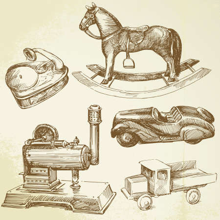 rocking horse: antique toys