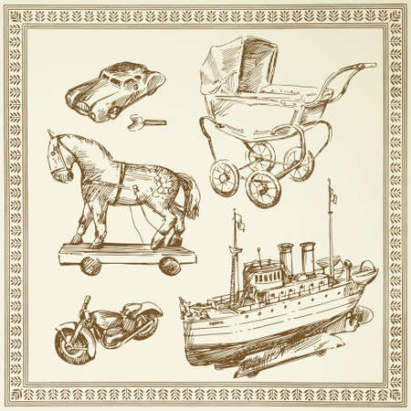 antique toys Stock Vector - 13378075