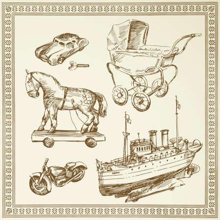 pram: antique toys