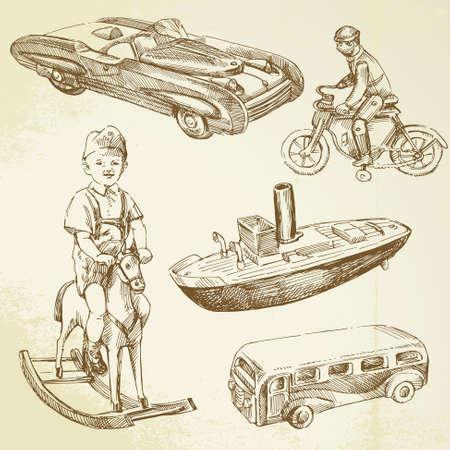 antique toys Vector