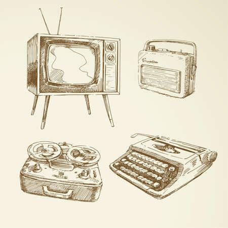 typewriter: colección de diseño vintage