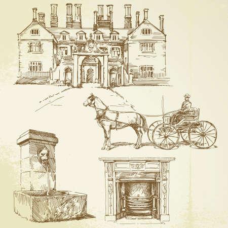 Hand drawn: victorian england - hand drawn