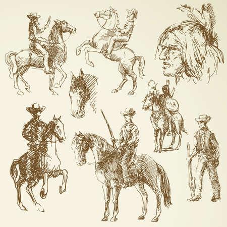 bonnet illustration: wild west