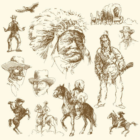 wild west - hand drawn collection  Stock Vector - 13479851