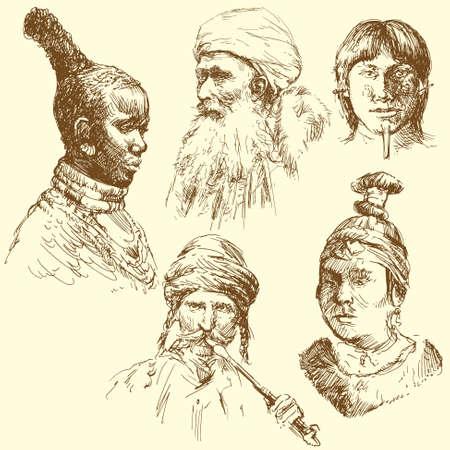 human diversity, human races Stock Vector - 13479850