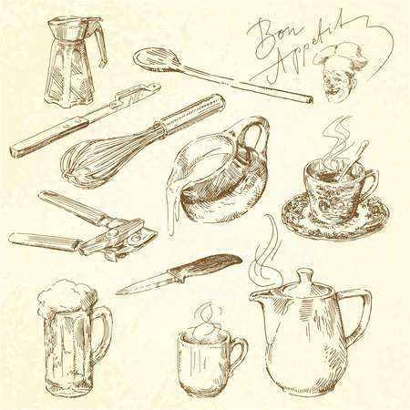 kitchen cooking: kitchen utensils Illustration