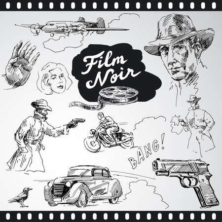 suspens: film noir - la main de collecte �tabli