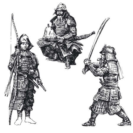 samourai: guerrier japonais - samouraï Illustration